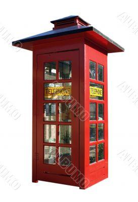 Classic red telephone box
