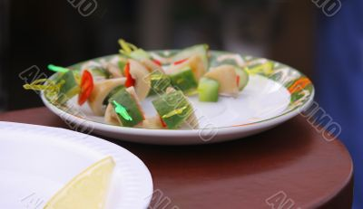 Plate with snack