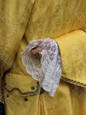 yellow historical costume