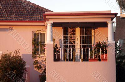Town House Balcony In Morning Light