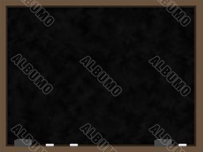 Blank Chalkboard with Wood Trim