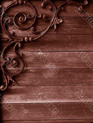 grunge wood and iron background