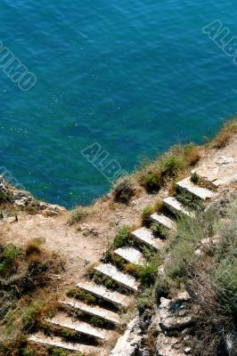 Stairs and the sea