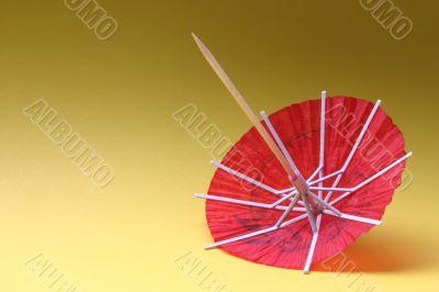 colorful cocktail umbrella