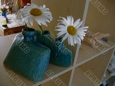 Cheerful Daisies in Ceramic Vases