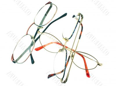 glasses heap - isolated