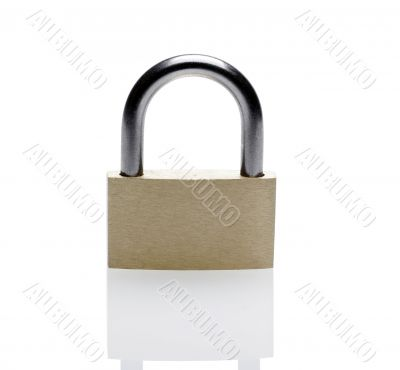 Closed Brass Padlock