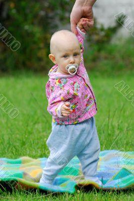 baby at walk