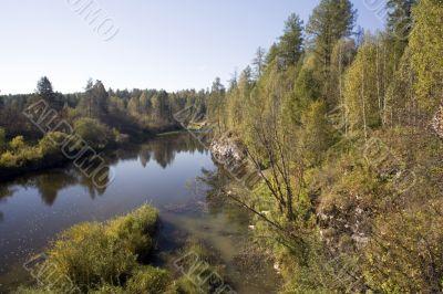 National reserve  Deer Streams The river Serga 11