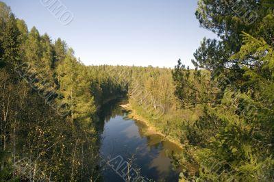 National reserve  Deer Streams The river Serga