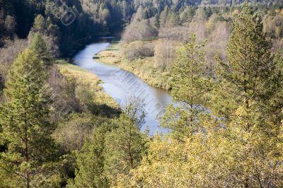 National reserve  Deer Streams The river Serga 4