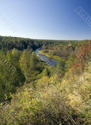 National reserve  Deer Streams The river Serga 5