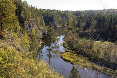 National reserve  Deer Streams The river Serga 6