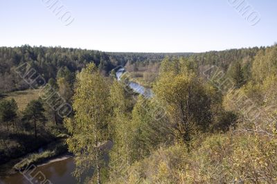 National reserve  Deer Streams The river Serga 7