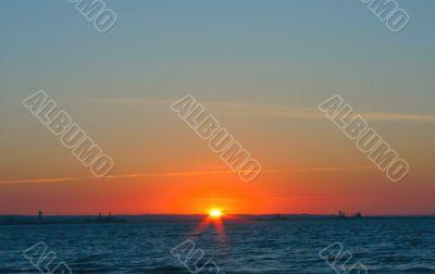 simple gorgeous sunset