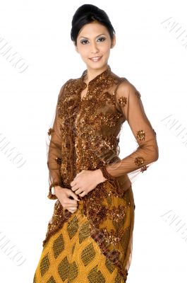 Beautiful asian women in traditional dress