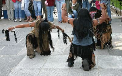 indians doing a ritual dance