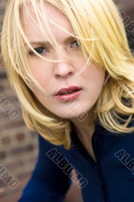 Serious Blond Haired Beauty