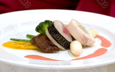 Steamed Scallop with Tuna