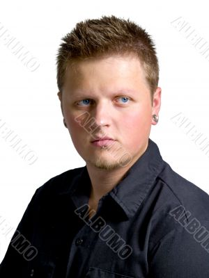 Young Adult Male Portrait Isolated