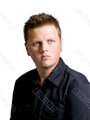Young Adult Man Portrait Isolated