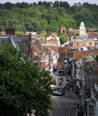 High view of Winchester