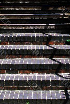 Stairs with zig zag shadow
