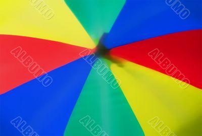 abstract of coloured umbrella