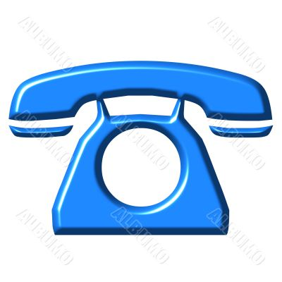 3D Azure Telephone