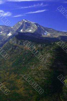 Autumn poplars, mountain valleys & ridges