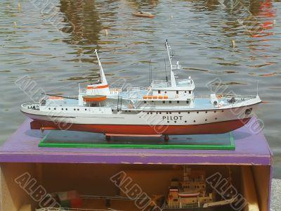 Model of a boat