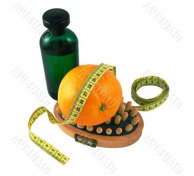 Oil, wood massage, orange