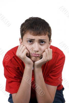 Boy upset