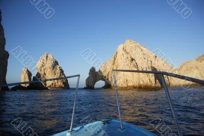arch, sea, ocean, landscape, mexico
