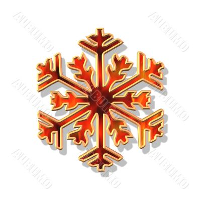 red and gold Christmas flake