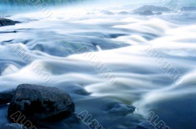 Running water, waterfall, cascade, falls.