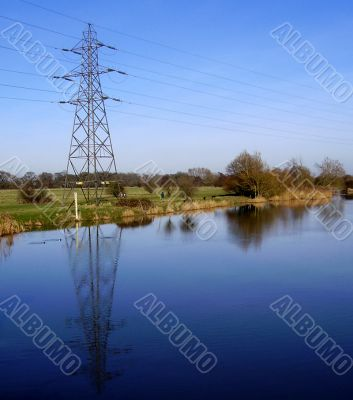 pylon and reflection