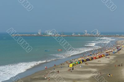 coast of pacific. manta