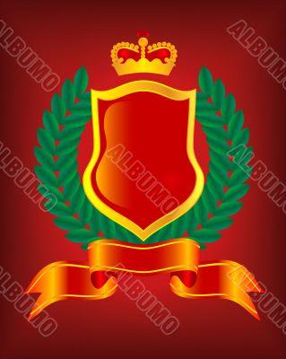 Heraldic escutcheon. The vector image.