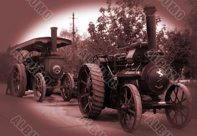 vintage steam traction