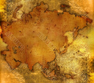 aged asia map-vintage artwork