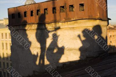 The shadows of Saint-Petersburg