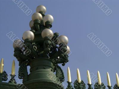 Multi-Lamp Lamppost