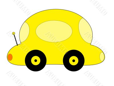 Yellow Cartoon Car