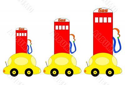Rising Gas Prices Illustration