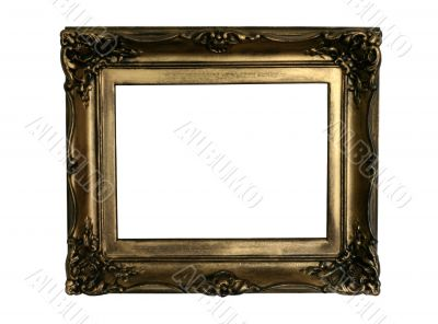 ancient golden frame, ready to fill in