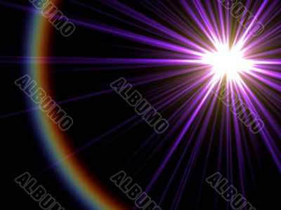 lilac starburst and distant spectral ring