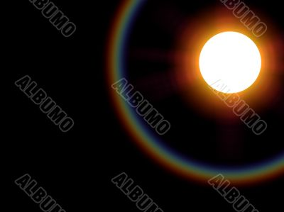 Sun with spectral bow ring