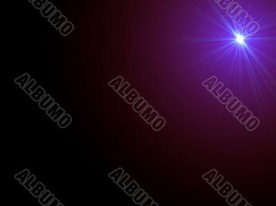 Purple starlight with copyspace