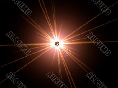turmoil sun with radiating spikes
